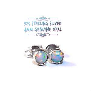 925SS Opal Studs